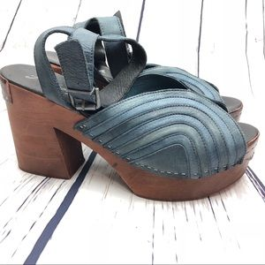 Free People Orion Wooden Clogs